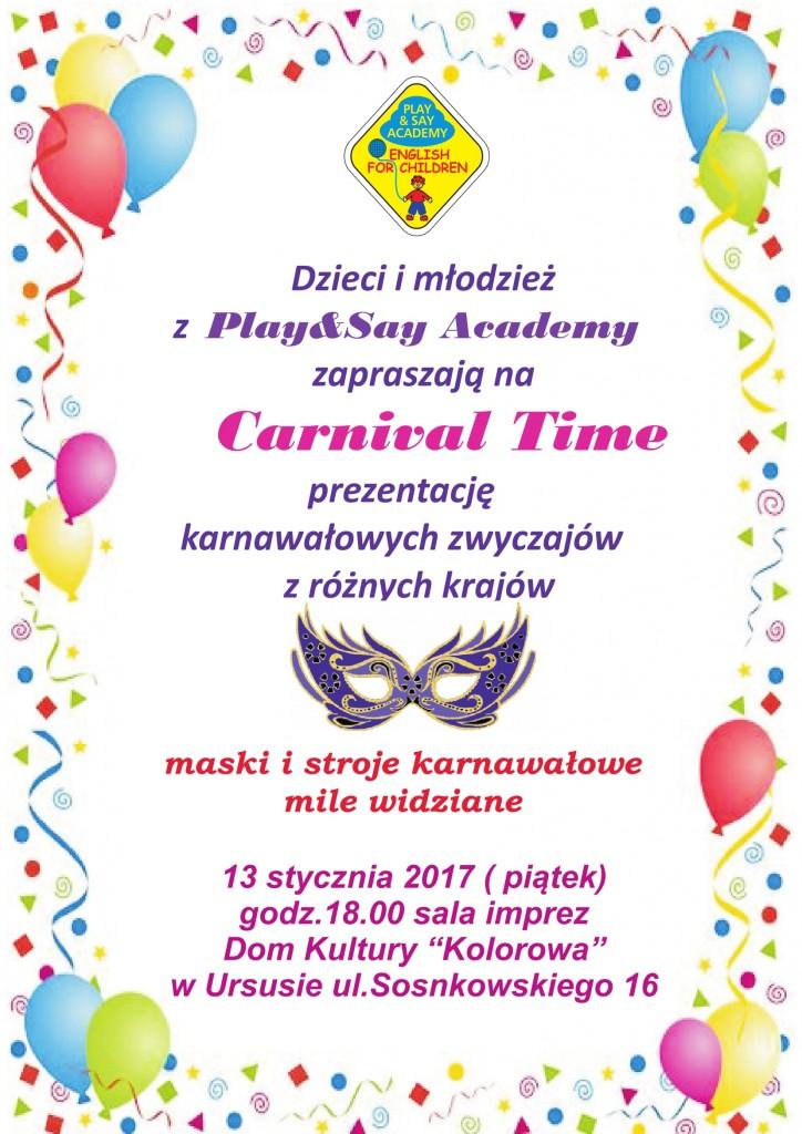 Carnival Time - Zaproszenie